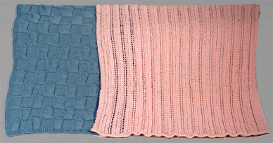 baby blanket knitting pattern sample