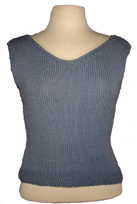 v-neck shell knitting pattern