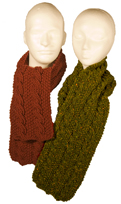 reversible cables scarf knitting pattern sample