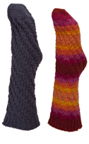toe-up tube socks knitting pattern