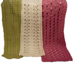 scarves for Parkinson's knitting pattern sample