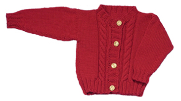 baby cable cardigan knitting pattern