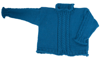 cabled pullover for kids knitting pattern