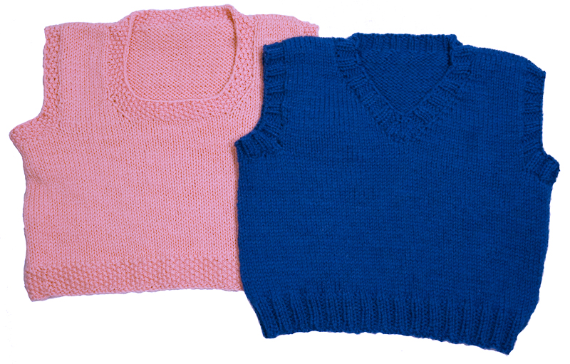 Vest Knitting Pattern For Children : Easy Knitting Pattern for Childrens Vest - Instant Download Momogus Knits