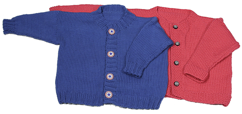 Easy Knitting Patterns For Child s Sweater : Easy Knitting Pattern for Childs Cardigan Sweater ...