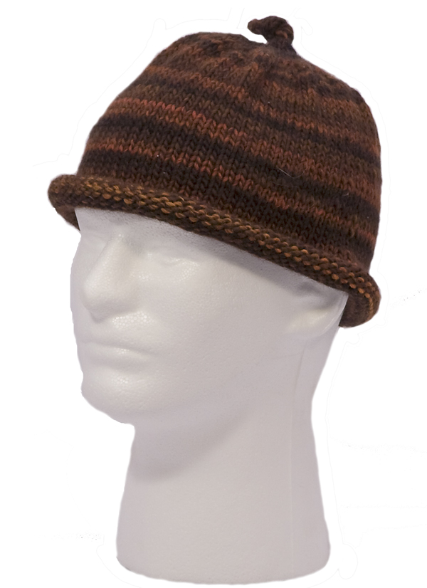 Momogus Knits Adult Hats Knitting Pattern. Rolled or ribbed brims.