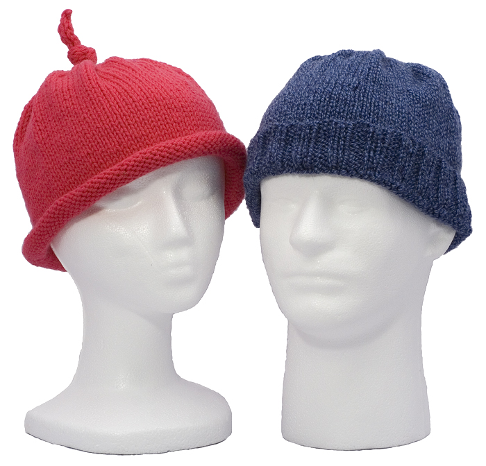 Momogus Knits Men's and Women's Hats Knitting Pattern. Simple to knit and stylish.