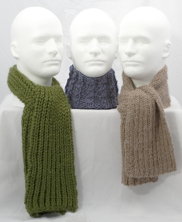 Momogus Knits Trio of Manly Scarves Knitting Pattern
