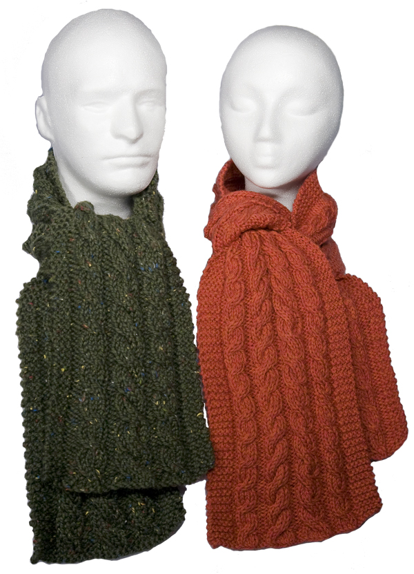 Momogus Knits Cabled Scarves Knitting Pattern