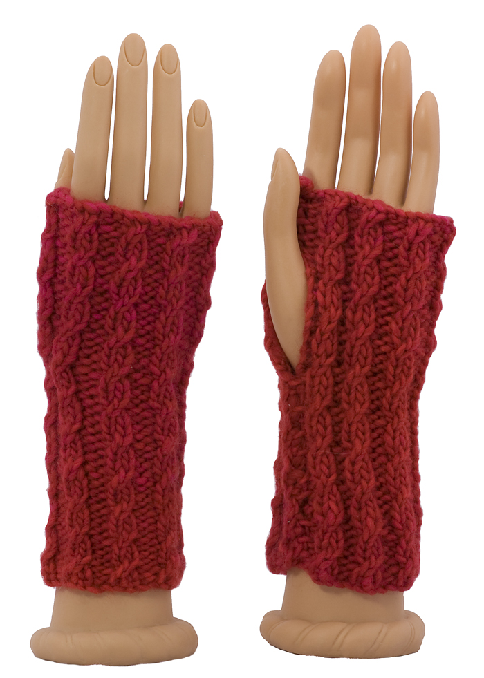 Momogus Knits Fingerless Gloves Knitting Pattern