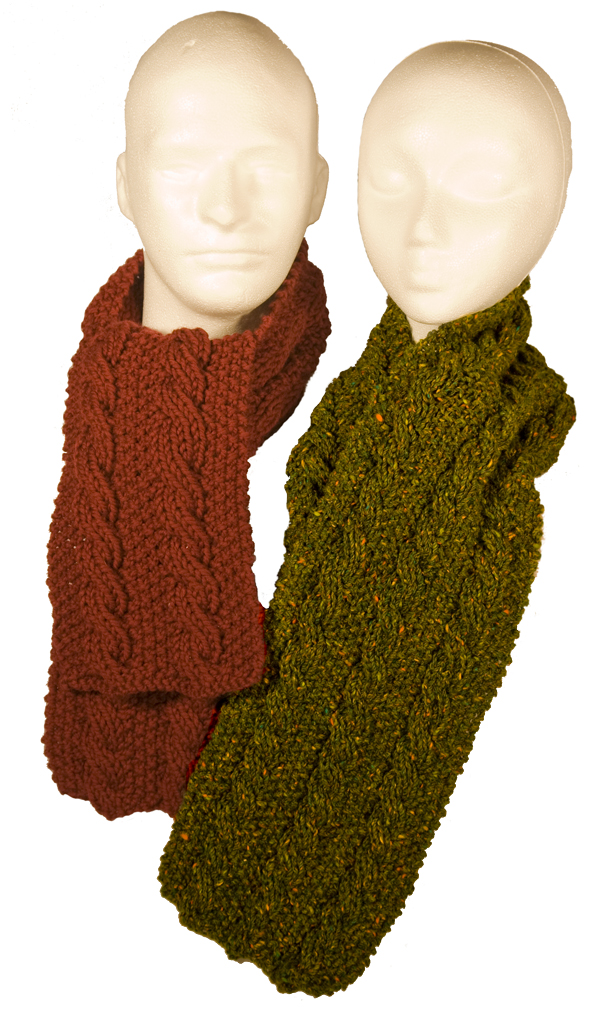 Momogus Knits Reversible Cable Scarves Pattern