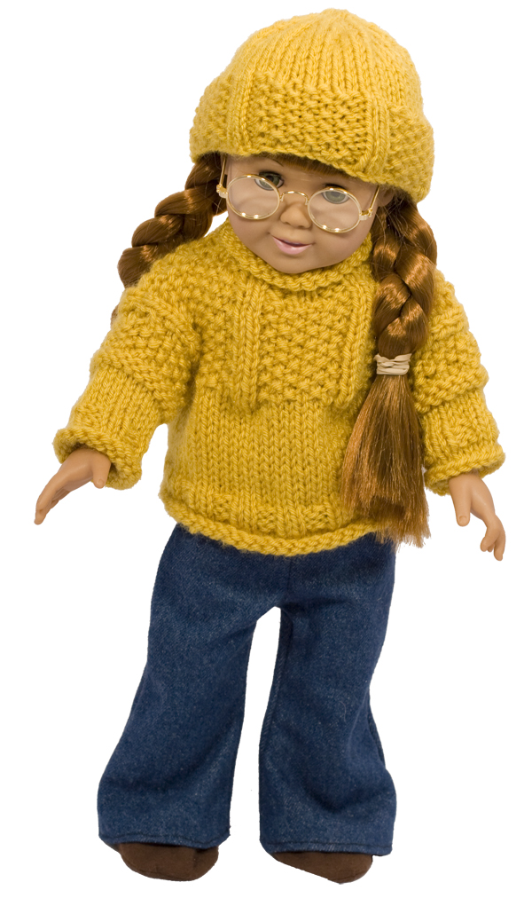 Momogus Knits American Girl Doll Sweater Knitting Pattern