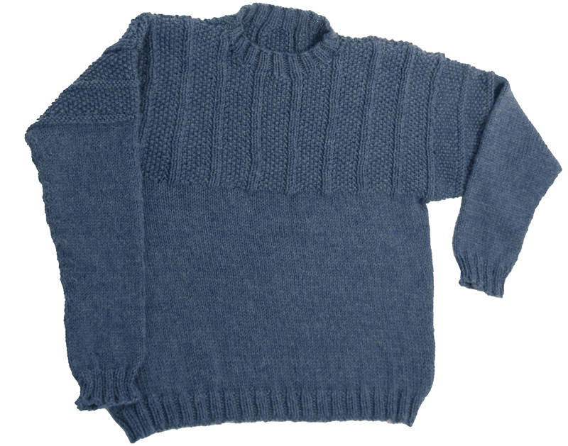 Momogus Knits Adult Gansey Sweater Knitting Pattern. Gorgeous, easy to knit sweater for men and women.