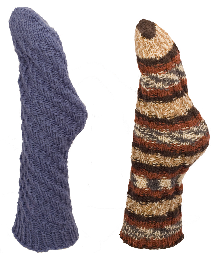 Knitting Pattern for Toe Up Tube Socks - Instant Download Momogus Knits