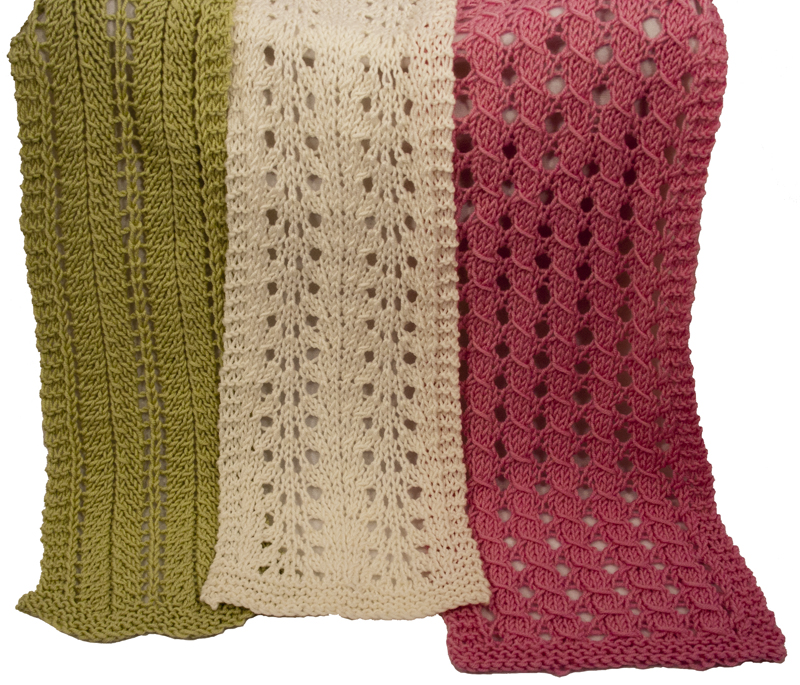 Knitting Pattern For Simple Scarf : Knitting Pattern for Easy Lace Scarves - Instant Download Momogus Knits