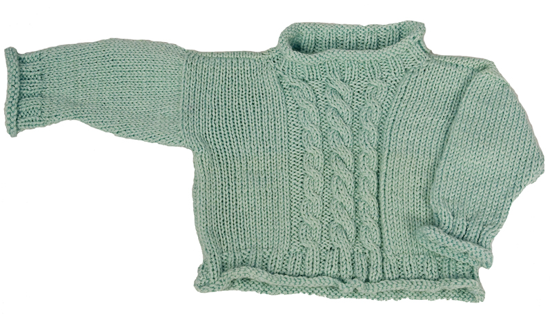 Momogus Knits Baby Cable Cardigan Knitting Pattern. Great pattern to learn cables.