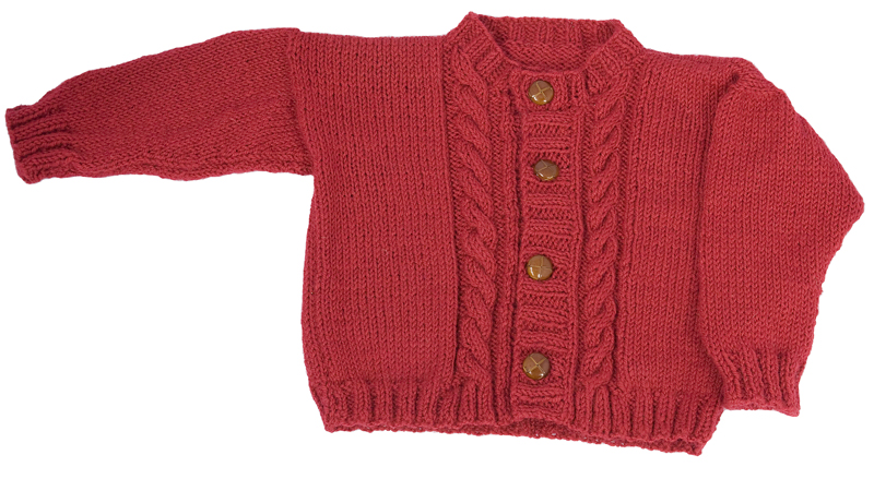 Momogus Knits Kids Cabled Cardigan Knitting Pattern. Great intro to cables.
